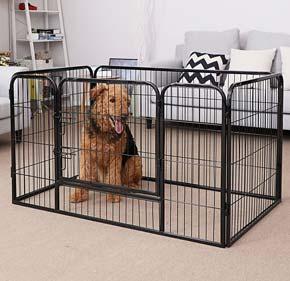 gabbia per cani recinto songmics