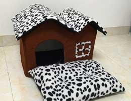 cuccia per cani da interni tela