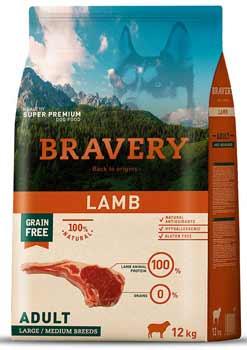crocchette per cani bravery lamb