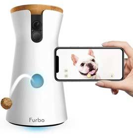 furbo distributore crocchette cani videocamera